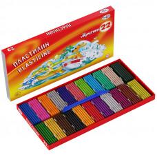 "Пластилин Гамма ""Мультики"", 22 цвета, 440г, со стеком, картон. упак."