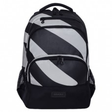 Рюкзак GRIZZLY универсальный, черный/светло-серый, 32х45х23 см