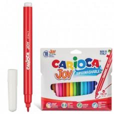 """Фломастеры CARIOCA (Италия) """"Joy"""", 18 цветов, суперсмываемые, вентилируемый колпачок"""