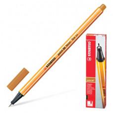 "Ручка капиллярная STABILO ""Point"", толщина письма 0,4 мм, цвет темная охра"