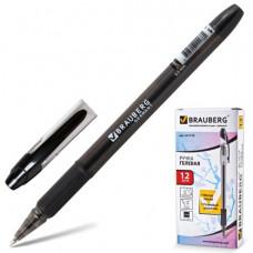 """Ручка гелевая BRAUBERG """"Samurai"""", 0,5 мм, резиновый держатель, черная"""