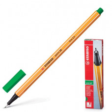 "Ручка капиллярная STABILO ""Point"", толщина письма 0,4 мм, зеленая"