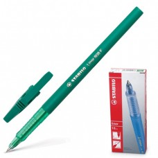 """Ручка шариковая STABILO """"Liner"""", корпус зеленый, толщина письма 0,3 мм, зеленая"""
