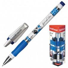 """Ручка гелевая ERICH KRAUSE """"ROBOGEL"""", с резиновым упором, толщина письма 0,5 мм, синяя"""