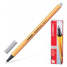 """Ручка капиллярная STABILO """"Point"""", толщина письма 0,4 мм, светло-серая"""