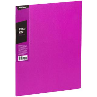 """Папка с 20 вкладышами Berlingo """"Color Zone"""", 14мм, 600мкм, розовая"""
