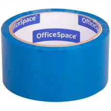 Клейкая лента упаковочная OfficeSpace, 48мм*40м, 45мкм, синяя, ШК