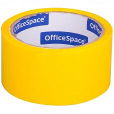 Клейкая лента упаковочная OfficeSpace, 48мм*40м, 45мкм, желтая, ШК