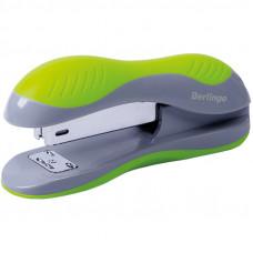 """Степлер №24/6, 26/6 Berlingo """"Office Soft"""" до 25л., пластиковый корпус, зеленый"""