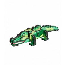 """Сборная модель-головоломка из изолона """"Крокодил""""."""