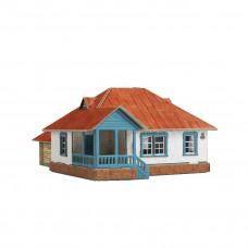 """Сборная модель из картона """"Сельский дом №3"""""""