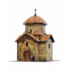 """Сборная модель из картона """"Церковь Кармравор"""", масштаб HO 1/87."""