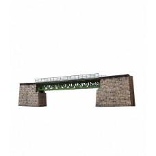 """Сборная модель из картона """"Железнодорожный мост"""", масштаб HO 1/87."""