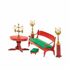 Сборная модель из картона ''Диван и овальный стол''