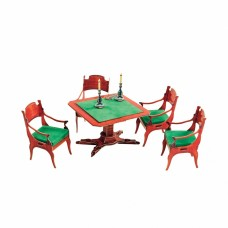 Сборная модель из картона ''Ломберный стол с креслами''