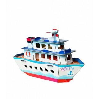 """Сборная модель из картона """"Кораблик"""""""
