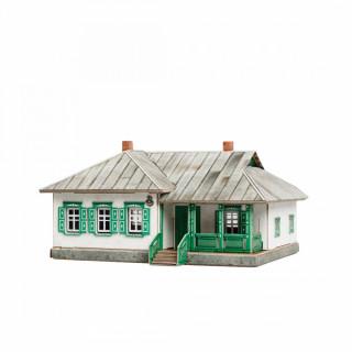"""Сборная модель из картона """"Сельский дом №2"""""""