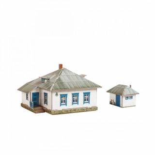 """Сборная модель из картона """"Сельский дом №1"""""""