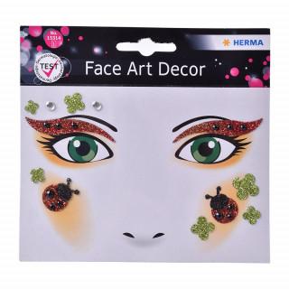 HERMA 15314 Наклейки детские/декоративные FACE ART LADY BUG