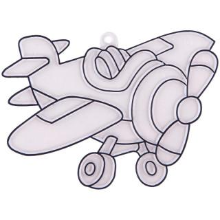 Трафарет витражный малый Аэроплан