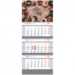 "Календарь квартальный 3 бл. на 3 гр. OfficeSpace Standard ""Coffe time"", 2022г."