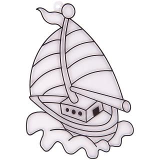 Трафарет витражный малый Яхта