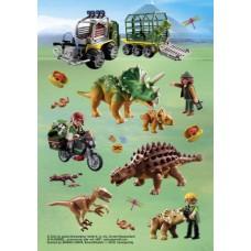 """Наклейки HERMA """"Динозавр на природе 3D"""""""