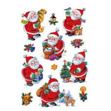 """Наклейки HERMA """"Дед Мороз и Елочные игрушки"""""""