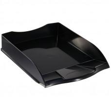 """Лоток для бумаг горизонтальный OfficeSpace """"Basic"""", черный"""