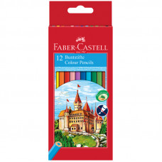 "Карандаши цветные Faber-Castell ""Замок"", 12цв., шестигр., заточ."