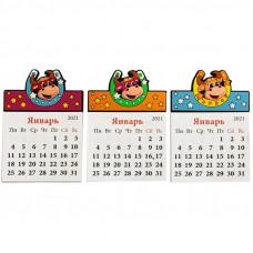 """Магнит-календарь """"Подкова"""" 8,5*6см, ассорти"""