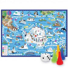 Игра-ходилка с фишками. Путешествие пингвинов. Антарктида.  59,5*42 см