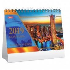 """Календарь-домик на 2019 г., HATBER, на гребне, 160х105 мм, горизонтальный, """"Деловой - Золото"""""""