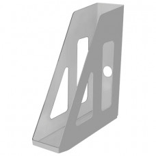 "Лоток вертикальный для бумаг СТАММ ""Актив"" (253х70х250 мм), серый"
