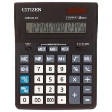 Калькулятор настольный CITIZEN BUSINESS LINE CDB1601BK (205x155 мм), 16 разрядов, двойное питание