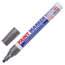 Маркер-краска лаковый (paint marker) 4 мм, СЕРЕБРЯНЫЙ, НИТРО-ОСНОВА, алюминиевый корпус, BRAUBERG PROFESSIONAL PLUS