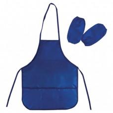 Фартук с нарукавниками для труда и занятий творчеством BRAUBERG, 44х55 см, синий