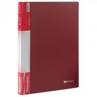 Папка 20 вкладышей BRAUBERG стандарт, красная, 0,6 мм