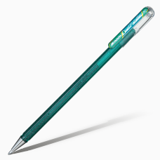 Ручка гелевая Pentel Hybrid Dual Metallic хамелеон K110 1,0мм , цвет зелёный- красный.