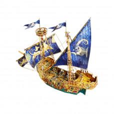 """Сборная игровая модель из картона """"Пиратский корабль"""""""