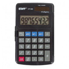 Калькулятор карманный STAFF STF-899 (117х74 мм), 8 разрядов, двойное питание
