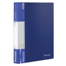 Папка 60 вкладышей BRAUBERG стандарт, синяя, 0,8 мм