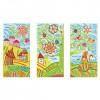 """Алмазная мозаика """"Кот ученый. Триптих"""", 3 картины, более 2200 элементов, 10х20 см, ORIGAMI"""