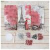 """Алмазная мозаика """"Париж. Триптих"""", 3 картины, более 2700 элементов, 10х20 см, ORIGAMI"""