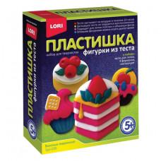 """Набор для изготовления фигур из теста ПЛАСТИШКА """"Вкусные пирожные"""", тесто для лепки, формы, LORI"""