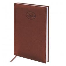 """Ежедневник датированный 2020 А5 (138х213 мм) BRAUBERG """"Favorite"""", фактурная кожа, коричневый"""