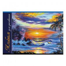 Альбом для рисования, А4, 24 листа, скоба, обложка картон, HATBER, 205х290 мм, Ассорти