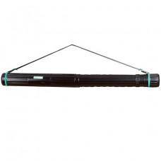 Тубус для чертежей СТАММ телескопический, диаметр 8,5 см, 63-110 см, А0, черный, на ремне
