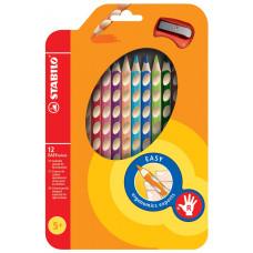 """Набор цветных карандашей Stabilo """"Easycolors"""" для правшей, 12 цветов"""