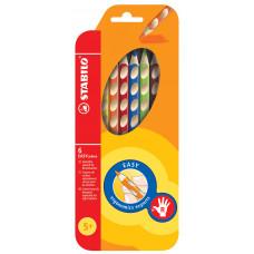 """Набор цветных карандашей Stabilo """"Easycolors"""" для правшей, 6 цветов"""